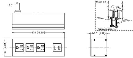Power outlet spec drawing