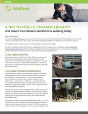 4 Tips to reduce WFH liability