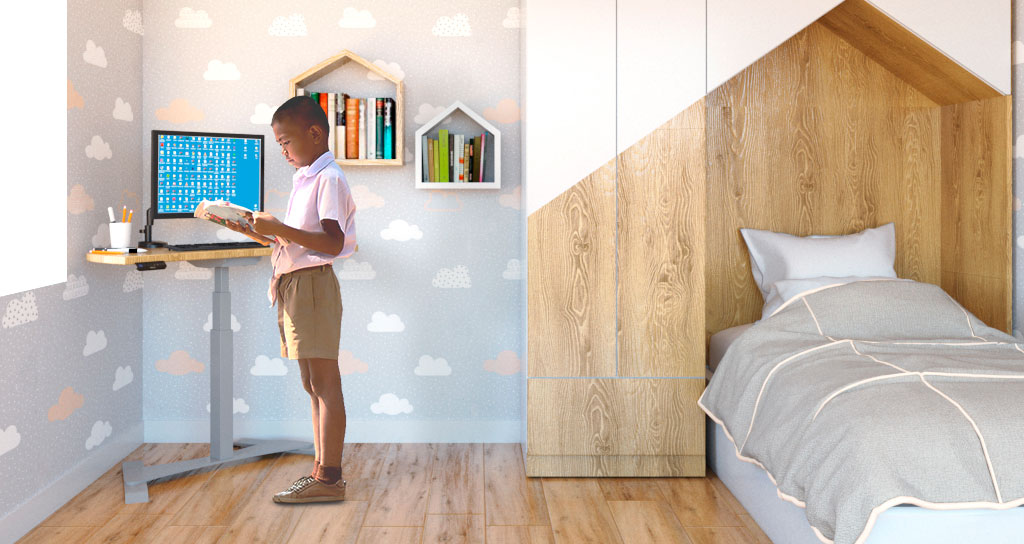 Sit-Stand Desk Experience for Children with Autistic Spectrum Disorder